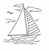 Boat Coloring Sailboat Printable Colouring Boats Yacht Drawing Sheets Simple Sailing Coloring4free Outline Sketch Clip Bestcoloringpagesforkids Canoe Colorings Dock Ferry sketch template