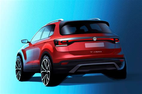 vw sketches  cross small suv   inches
