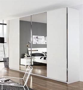 Porte Coulissante Miroir : armoire 2 portes coulissantes denia blanc miroir ~ Carolinahurricanesstore.com Idées de Décoration