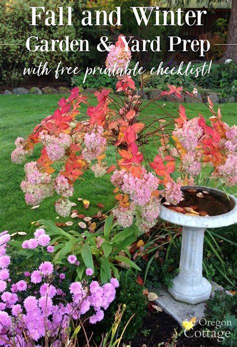 fall  winter garden yard prep printable checklist