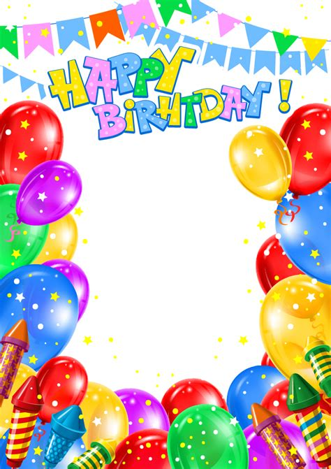 balloon birthday clip art happy birthday transparent png