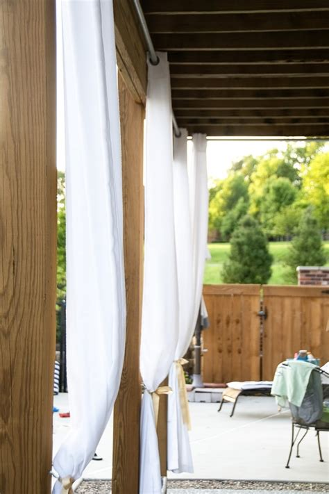 Outdoor Curtains by Best 25 Outdoor Curtain Rods Ideas On Outdoor