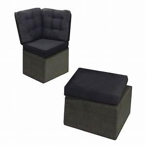 Pouf Pour Salon : pouf et angle du canap pour salon de jardin daveport ~ Premium-room.com Idées de Décoration