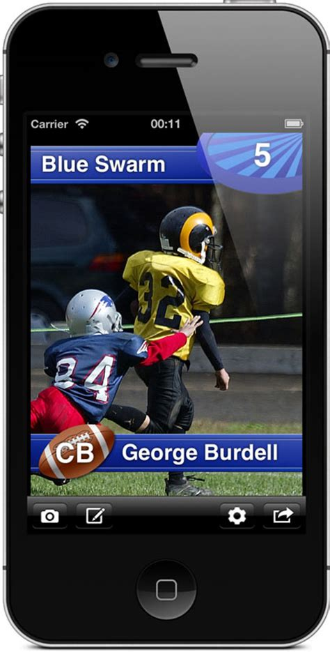 Football Card Pro  Make Your Own Custom Trading Cards