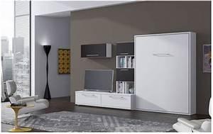 Lit Escamotable Armoire : armoire lit escamotable bora secret de chambre ~ Premium-room.com Idées de Décoration