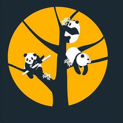 Illustrations Pandas Tree Bamboo Chamola Sriti