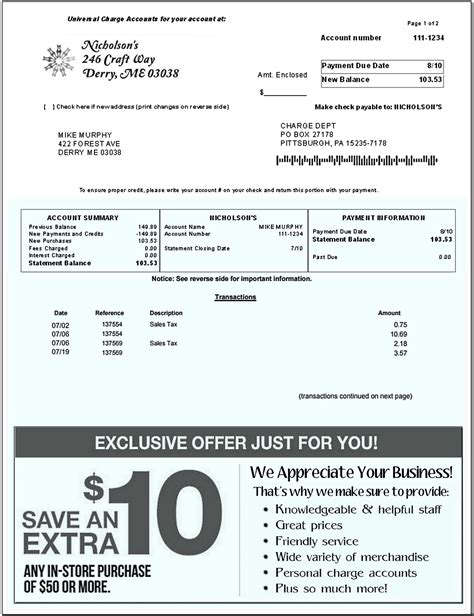 100 excellent sle of service billing free printable