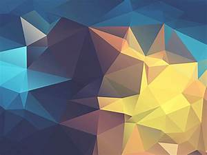 Minimalism, Abstract, Low, Poly, Geometry, Yellow, Blue