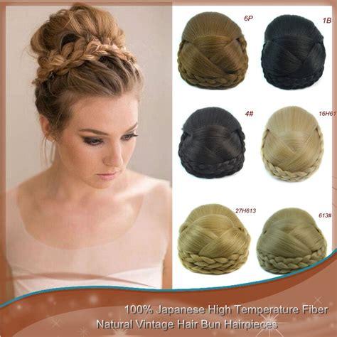 pc clip  hair bun bridal hair chignon updo hairpieces