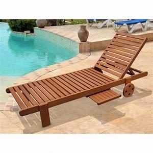 Chaise Longue Bain De Soleil : bain de soleil en bois exotique avec roulette achat ~ Dailycaller-alerts.com Idées de Décoration