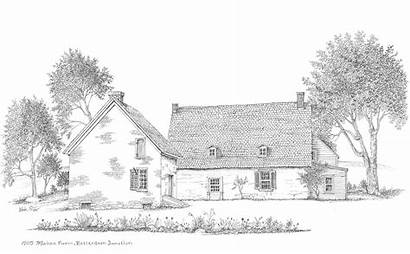 Farm Drawing Building Buildings Clipart Library Mabee