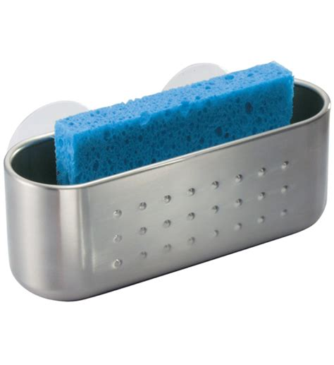 kitchen sink sponge holder suction stainless suction cup sponge holder in sink organizers