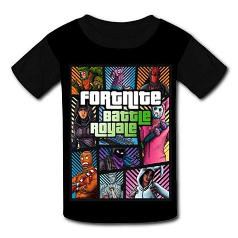 camiseta de fortnite negra estilo gta camisetas
