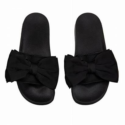 Slydes Slides Bow Womens Silk Peep Loofes