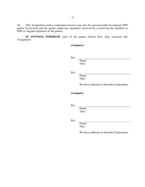 termination of assignment of leases and rents form assignment of lease form free download
