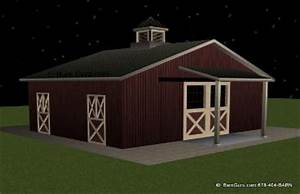 barn plans 3 stall horse barn monitor vs gable With 6 stall horse barn cost