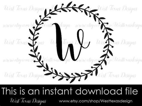 monogram wreath letter  farmhouse styleletter wreath