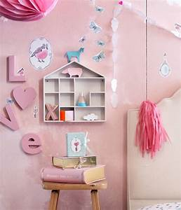 We l o v e this sweet pink setup our adhesive wall