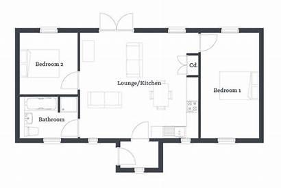Floor Modular Bedroom Plan Open Plans Bungalow