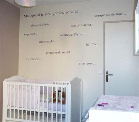 phrase chambre bébé les plus belles chambres en images pour les bébés bébé