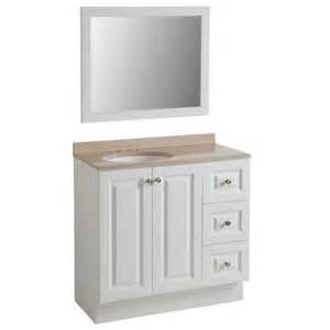 glacier bay bannister 36 5 in w vanity in white with colorpoint vanity top in cappuccino with