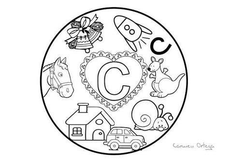 mandalas abecedario para colorear letra c lectura y escritura alphabet activities dual