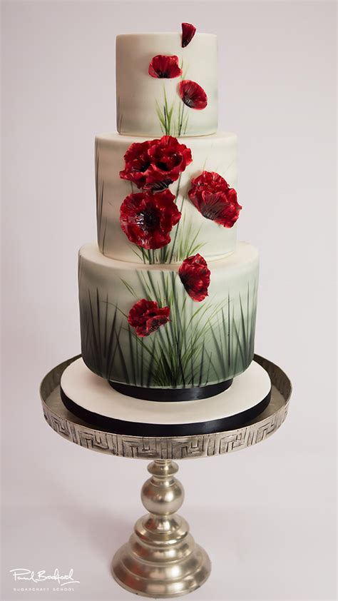 poppy wedding cake paul bradford sugarcraft school