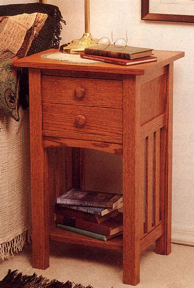 Mission Style Nightstand Plans by Arts And Crafts Mission End Table Stand Indoor Home