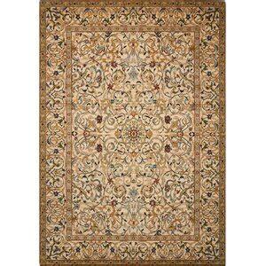 nourison wool copper area rug perigold