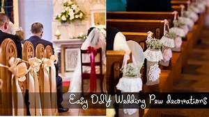 Easy DIY Wedding Pew Decorations - YouTube