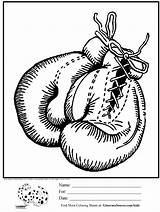 Coloring Boxing Gloves Pages Printable Drawing Glove Sheets Awesome Adults Hanging Boxe Ginormasource Template Adult Birthday Para Colorear Flag Boxer sketch template