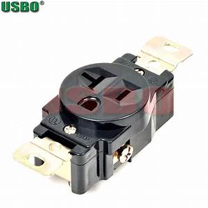American 120v 20a 3 Hole Nema 5 20r Us Single Generator Outlet Anti Off Industry Power Socket