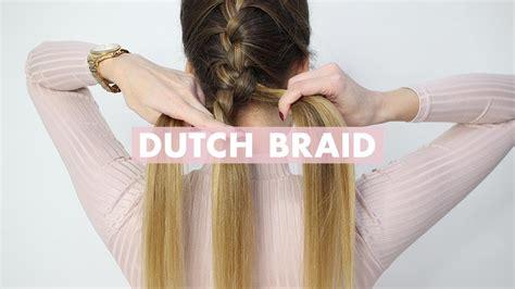 dutch braid hair tutorial  beginners luxy