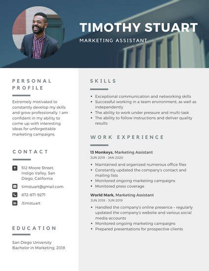 Best Modern Resume Template by Customize 864 Modern Resume Templates Canva