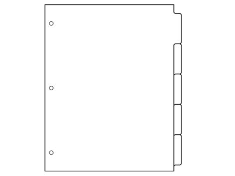 Staples 5 Large Tab Insertable Dividers Template Images - Template ...
