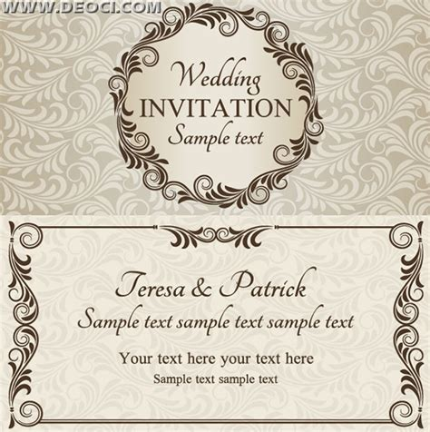 vector wedding invitation design template eps downloads