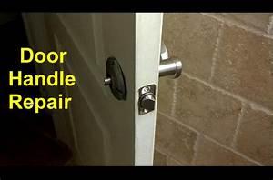 home door handles loose or broken diy fixes home repair With how to remove a bathroom door handle with lock