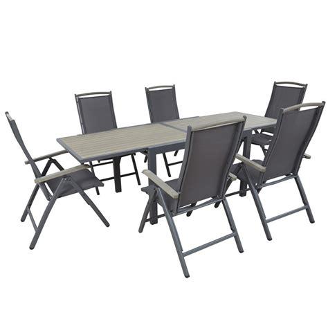 table chaise exterieur table et chaise d 39 extérieur 6 places mobeventpro