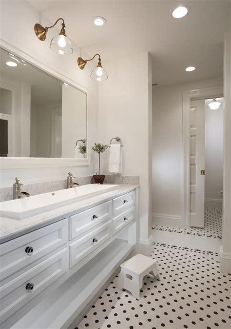 trough bathroom sinks Bathroom Contemporary with beige