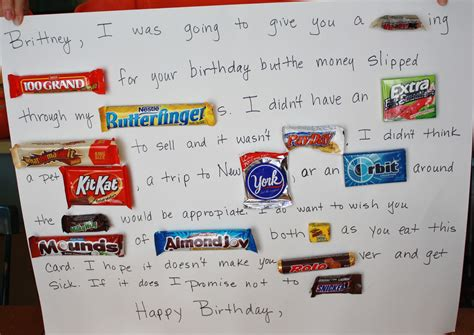I'm no teacher, but this was a fun activity to stretch my. Once Upon a Family: Candy Birthday Card