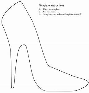 free printable stiletto shoe template collage With high heel shoe template craft