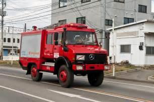 消防車:仮ナンバーの消防車 - 日本沿岸旅行記