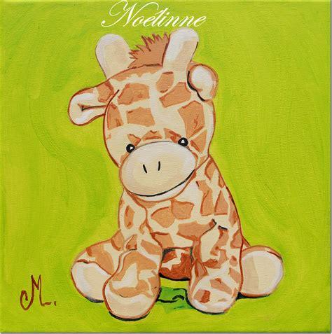 cadre déco chambre bébé tableau déco enfant bébé girafe enfant bébé tableau