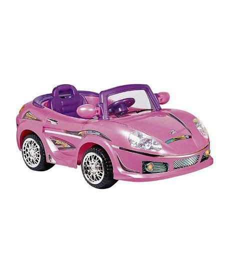pink kid car pink kids convertible sports car ride on