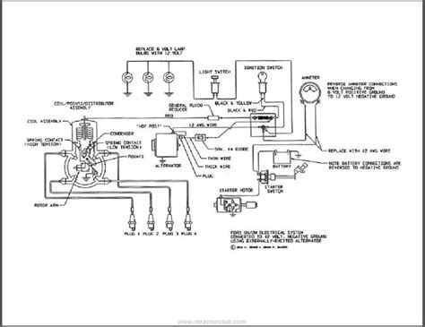 1954 Ford 8n Wiring Diagram by Wiring Diagram For Ford Naa Jubilee Tractor