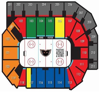 Seating Chart Map Ppl Arena Center Phantoms
