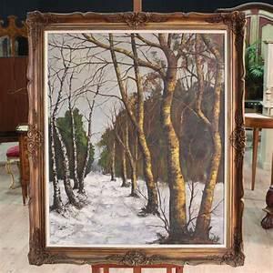 Dipinto firmato olio su tela raffigurante paesaggio