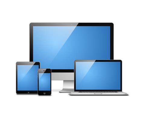 laptop tablet desktop mobile vector free download