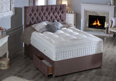 heritage natural  gold divan bed race furniture