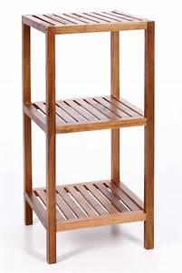 Meuble De Salle De Bain En Bambou : etagere 3 niveaux bambou ~ Edinachiropracticcenter.com Idées de Décoration